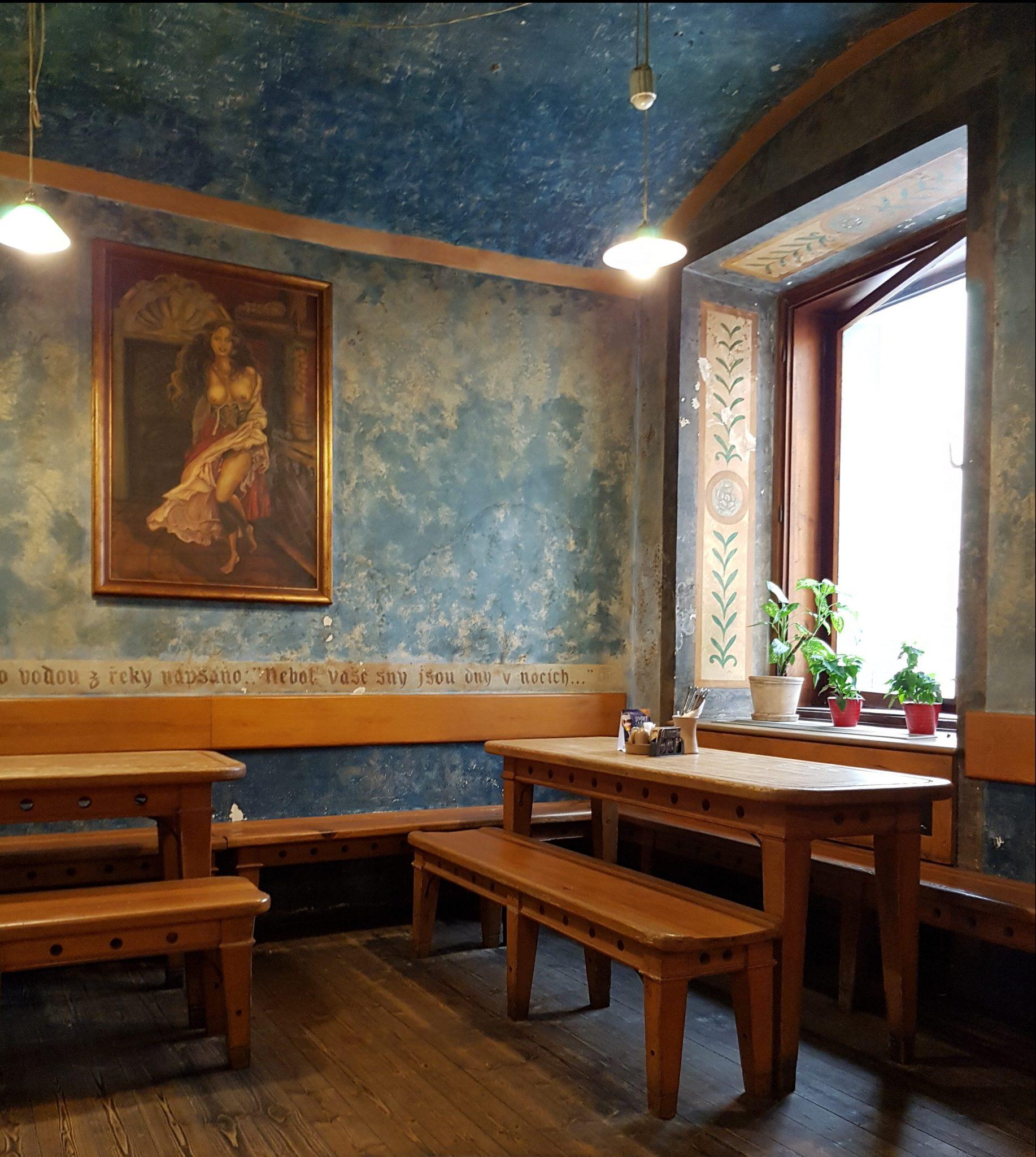 Interieur Tsjechisch restaurant in Praag