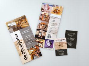 Boekenlegger en visitekaartje full colour