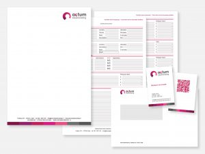 Briefpapier, interactieve PDF, enveloppen en visitekaartje