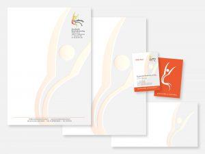 Briefpapier met volgpapier, enveloppen en visitekaartje
