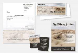 Wordsjabloon-factuur, kadobonnen met envelop, advertentie en visitekaartje