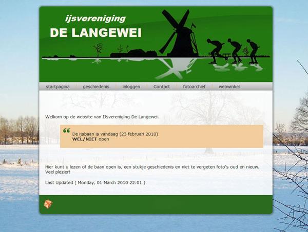 """webdesign """"IJsvereniging De Langewei"""""""
