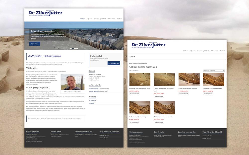 "webdesign en realisatie ""De Zilverjutter"""