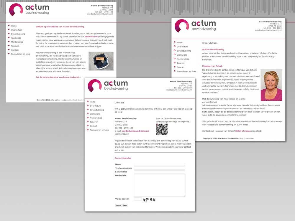 """Webdesign """"Actum Bewindvoering"""" met CMS"""